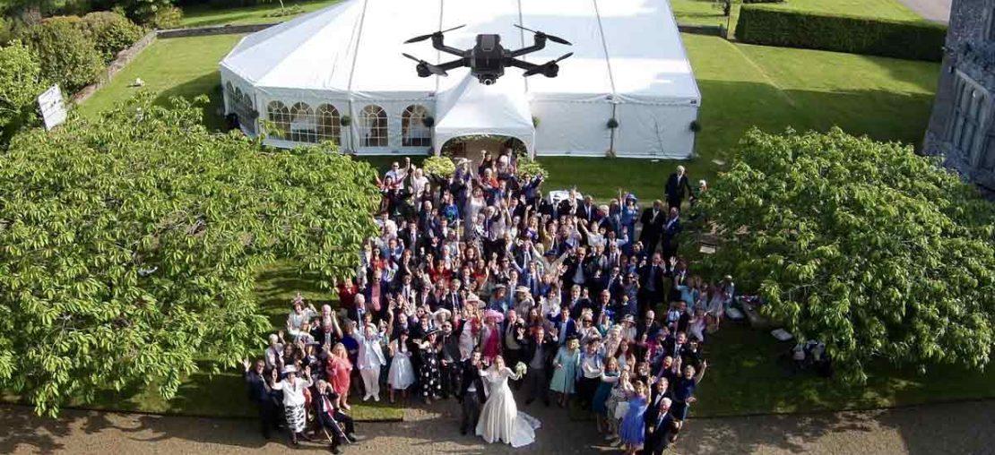 Fotografia de casamento com drones