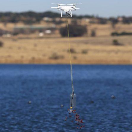 Pescaria com drone